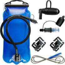 LIQUIDPACKPRO Hydration Bladder 2 Liter 2L Water Reservoir 2 Liter Hydration Bladder Water Bladder for Backpack 70 OZ For Running Cycling Hiking Water Backpack Bladder Bag Cleaning Kit Set