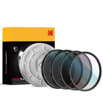 KODAK 105mm Filter Set UV, CPL, ND4 & Warming Filters - Absorb Atmospheric Haze Reduce Glare Prevent Overexposure Correct Color Add Warmth, & Creative Effects | Slim, Multi-Coated Glass & Mini Guide