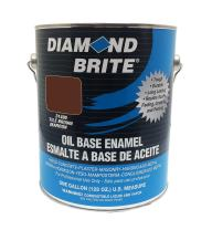 Diamond Brite Paint 31400 1-Gallon Oil Base All Purpose Enamel Paint   Tile Brown
