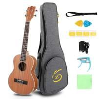 Ukulele Kit Soprano Ukulele 26inch Concert Ukelele Instrument All In One Kit (26inch)