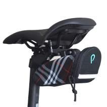 Vincita STASH Pack Strada Quick Release Bike Saddle Bag Big Zippered Opening Extra Interior Mesh Pocket Safety Reflective Strip with LED Strap Cycling Seat Bag Portable Storage Bag for Bikes