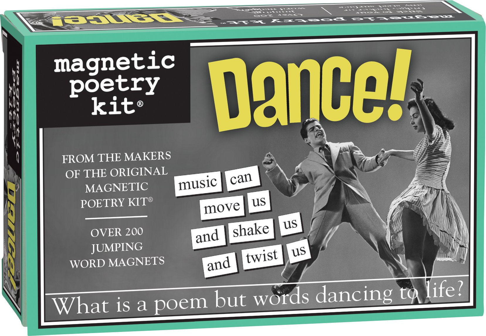 Magnetic Poetry - Dance! Kit - Words for Refrigerator - Write Poems and Letters on The Fridge - Made in The USA