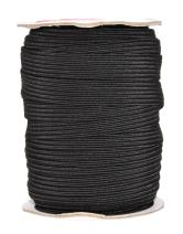 Mandala Crafts Flat Elastic Band, Braided Stretch Strap Cord Roll for Sewing and Crafting; 1/2 inch 12mm 20 Yards Black