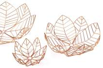 RED FIG HOME Decorative Wire Wall Art Set of 3 Copper Finish Decor Accent Table Centerpiece