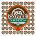 Fresh Roasted Coffee LLC, Organic Dark Mexican Chiapas Coffee Pods, Dark Roast, 72 Count