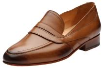3DM Lifestyle Men's Penny Slip-On Modern Classic Leather Lined Perforated Loafer Dress Shoes