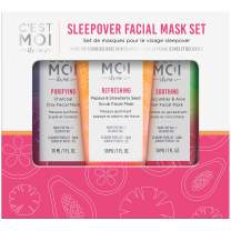 C'est Moi Sleepover Facial Mask Set   Face Mask Kit Includes Purifying, Refreshing, Soothing Masks, Hypoallergenic, Clinically Tested Non-Toxic Ingredients, Smooth, Hydrate, Cleanse, Balance