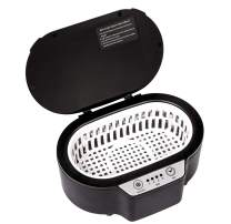 Ultrasonic Cleaning Machine Portable, 20oz Household Ultrasonic Cleaner for Jewelry Eyeglasses Dentures Brush, Black