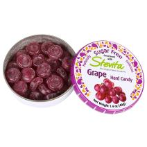 Stevita Stevia Sweet Candy Natural Grape Flavor (6 Pack) - 1.4 Ounces - Sugar Free Hard Candy, Stevia Sweetened - Non GMO, Keto, Paleo, Gluten-Free - 156 Servings