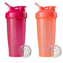 Blender Bottle Classic Loop Top Shaker Bottle, 28-Ounce 2-Pack, All Pink and Coral