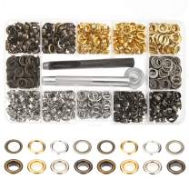 4 Colors Grommets Kit 400 Sets 1/4 Inch, Lynda Metal Eyelets with 3 Pieces Installation Tools for Craft Making,Repair and Decoration.