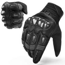 INBIKE Motorcycle Gloves Hard Knuckle Gloves Motorbike Gloves Men Breathbale Carbon Fiber Grey XX-Large IM803