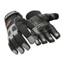 RefrigiWear Men's Insulated Fleece Lined HiVis Super Grip Performance Gloves Reflective with Silicone Grip Dots