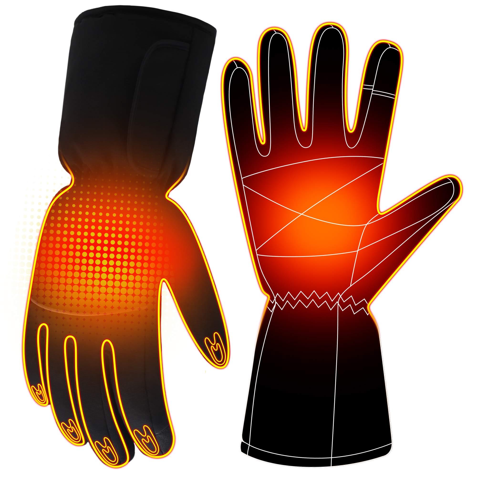 Heated Gloves Rechargeable Battery Heat Gloves Kit Winter Hand Warmer,3 Heat