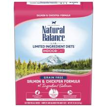 Natural Balance L.I.D. Limited Ingredient Diets Dry Cat Food for Indoor Cats, Grain Free