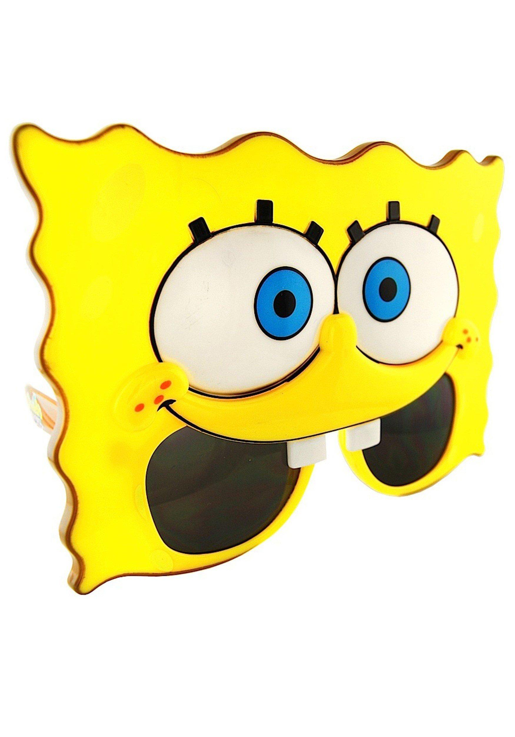Costume Sunglasses SpongeBob SquarePants Sun-Staches Party Favors UV400