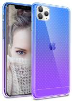 SANKMI Compatible with iPhone 11 Pro Case,Clear Gradient Cute Slim Soft Bumper Grip for iPhone 11 Pro 5.8 Inch 2019 Anti Scratch Shock Absorption Wireless Charging 11 Pro iPhone Case (Blue Purple)