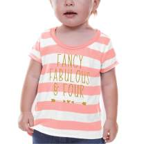 Bump and Beyond Designs Fourth Birthday Shirt Girl Fourth Birthday Outfit (5T)