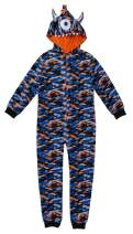 Sleep On It Fleece Onesie Pajamas with Character Hood for Boys | Boys 3D Hooded Onesie Pajama Set
