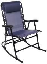 Amazon Basics Foldable Rocking Chair, Navy