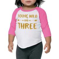 Girl Third Birthday Shirt Three Year Old Outfit (2T)