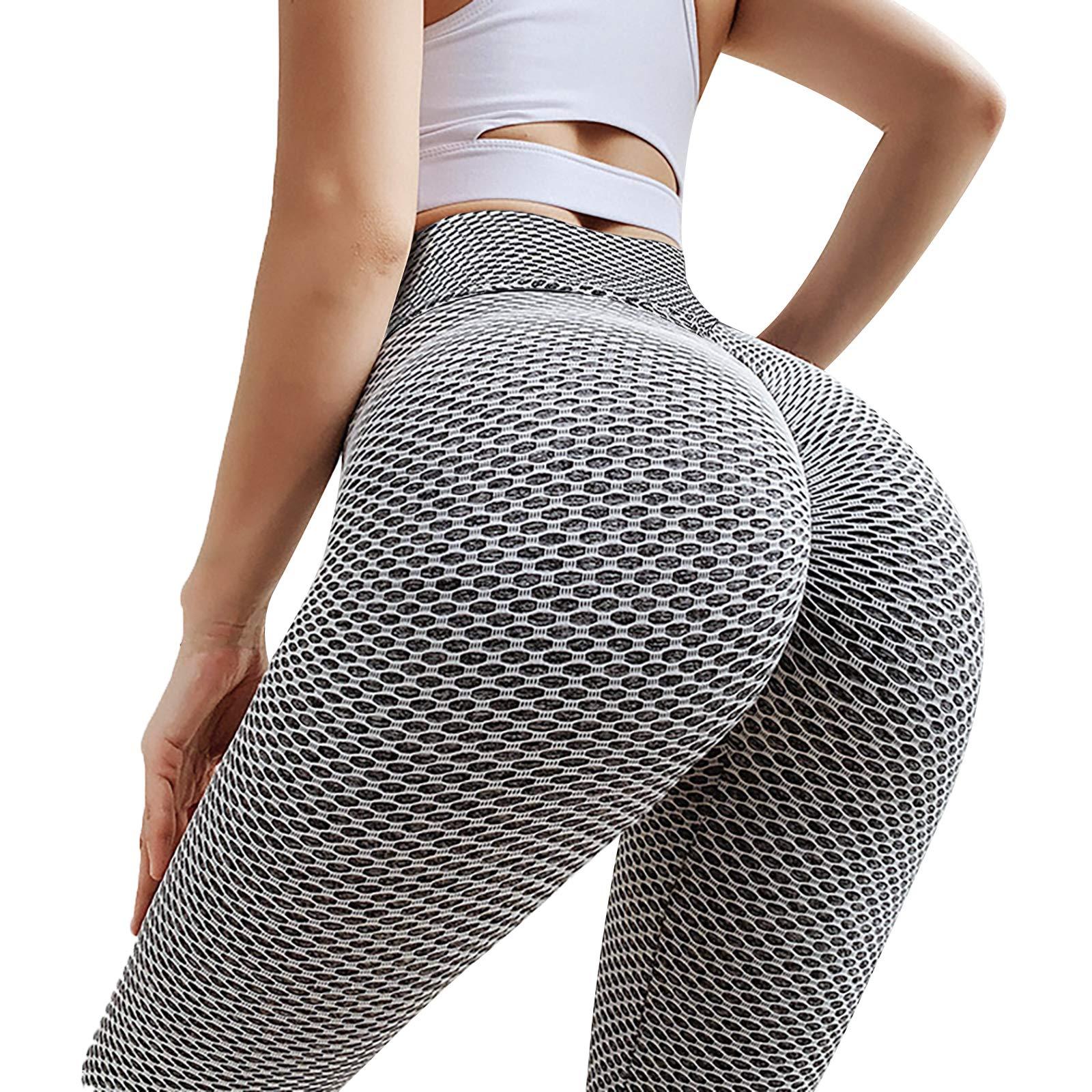 TIK Tok Leggings for Women, High Waisted Butt Lifting Bubble Hip Lift Yoga Pant