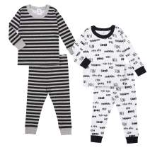 Gerber Boys' Toddler Organic 2 Pack 2-Piece Cotton Pjs