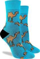 Good Luck Sock Women's Camel Crew Socks - Aqua, Adult Shoe Size 5-9