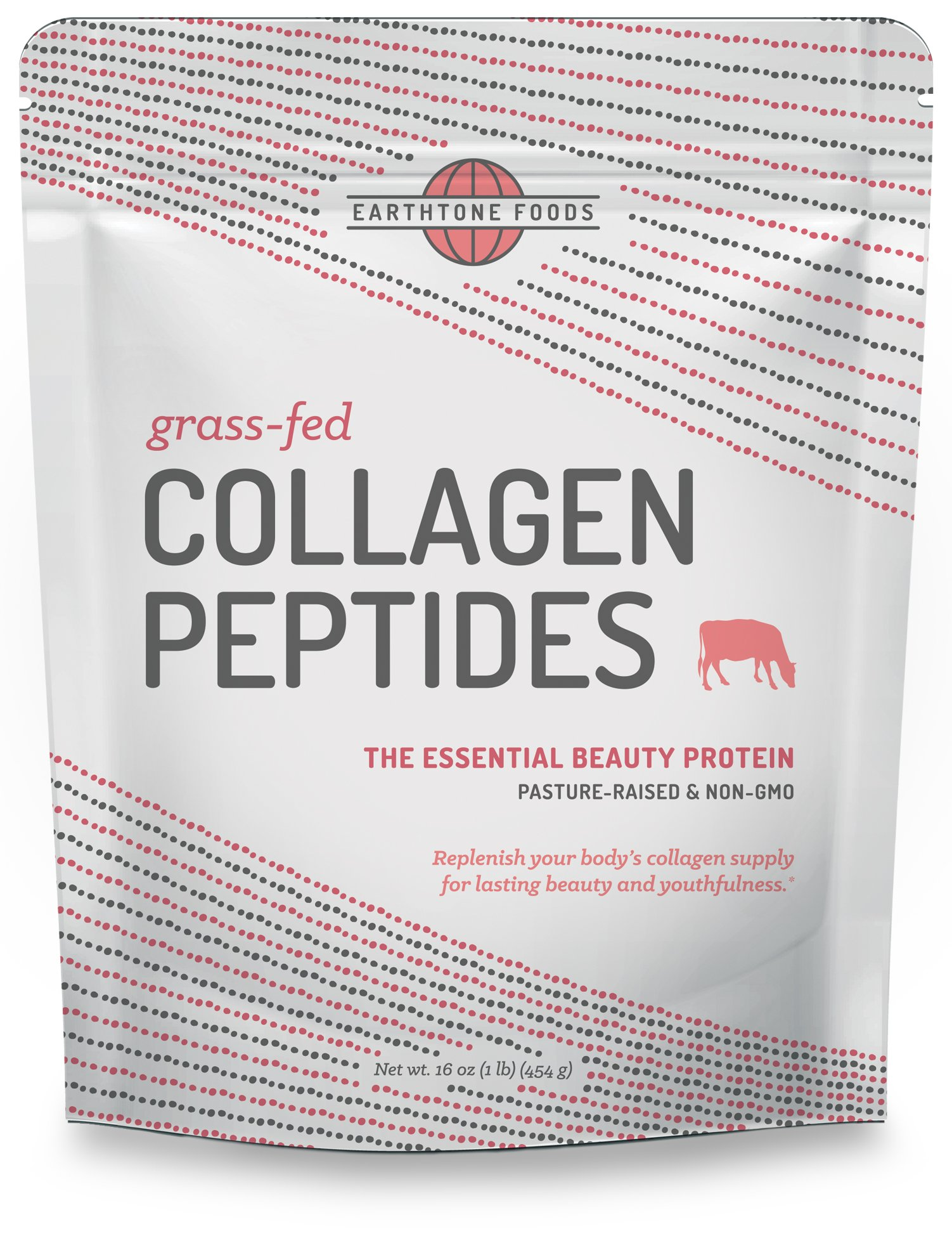 Collagen Peptides Powder (16 oz) | Paleo-Friendly Hydrolyzed Grass-Fed Non-GMO Protein