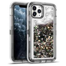 WESADN Case for iPhone 11 Pro Max Case for Women Girls Glitter Cute Shockproof Protective Heavy Duty Clear Sparkle Quicksand Hard Bumper Soft TPU Cover for iPhone 11 Pro Max,6.5 Inches,Black
