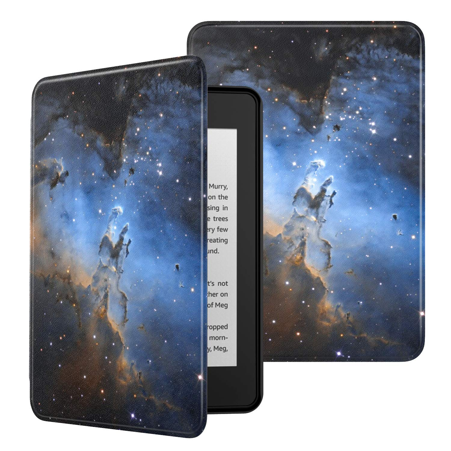 MoKo Case Fits Kindle Paperwhite (10th Generation, 2018 Releases), Premium Ultra Lightweight Shell Cover with Auto Wake/Sleep for Kindle Paperwhite 2018 E-Reader - Pillars of Creation Distant View