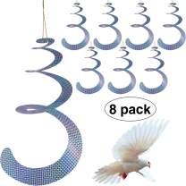 Maitys 8 Pack Bird Repellent Control Scare Device, Efficient Spiral Bird Deterrent Device Reflect Light to Scare Birds Away