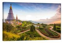 LightFairy Wall Art for Living Room - Glow in The Dark Canvas Painting - Stretched and Framed Giclee Print - DOI Inthanon Thailand - Wall Decorations for Bedroom - 24 x 16 inch