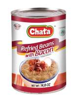 CHATA Refried Beans with Bacon 14.8 Oz Can | Pack 12