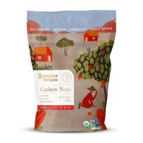 Botanica Origins Premium Organic Cashews, 10 oz | Whole | Raw | Unsalted | Non-GMO | Vegan, Keto and Paleo Friendly