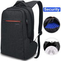 LAPACKER 15.6 inch Anti Theft Slim Water Resistant Women Men's Laptop Backpack Bag, Lightweight Business Travel College Computer Backpacks for Macbook in Black