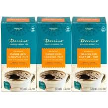 Teeccino Dandelion Tea – Caramel Nut - Coffee Alternative | Herbal Coffee Substitute | Organic Dandelion Root | Prebiotic | Caffeine Free | Gluten Free | Acid Free, 25 Tea Bags (Pack of 3)