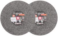 Walter 12E449 Bench Grinding Wheel - Fine Grit 80, 7 in. Finishing Wheel for Bench and Pedestal Grinders. Abrasive Finishing Supplies