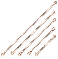 "ORAZIO 5-10Pcs Stainless Steel Necklace Bracelet Extender Chain Set,2"" 3"" 4"" 5"" 6"""