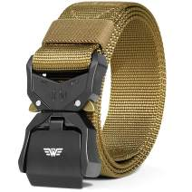 Fairwin Tactical Belt,Duty Belt, Web Belt, 1.5 Inch Military Style Riggers Belt for Men