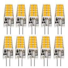 BAOMING G4 LED Bulb 12V JC Tybe, 20W/35W T3 G4 Halogen Equivalent, 2700K Soft Warm White, G4 Bi-Pin Base, No-Flicker 350LM, Chandelier Lighting/Landscape Lighting/Microwave Lighting (10 Pack)