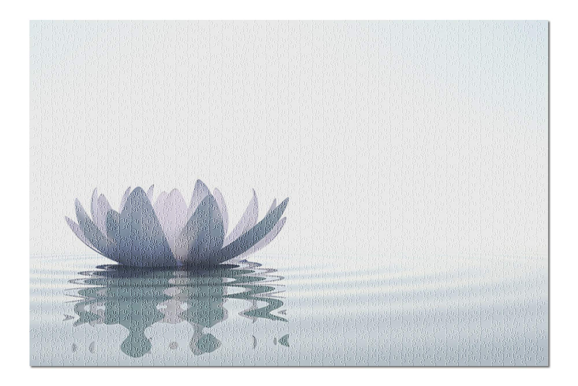 Zen Lotus Flower in Water 9000030 (Premium 1000 Piece Jigsaw Puzzle for Adults, 20x30, Made in USA!)