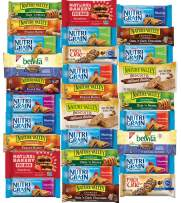 Healthy Snacks - 30 Packs - Variety Pack, Breakfast Bars, Including Nature Valley, Belvita, Nature Bakery, Nutri Grain, Chewy and Fiber One