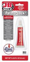 J-B Weld 27106 Perma-Lock High Strength Threadlocker - Red - 6 ml