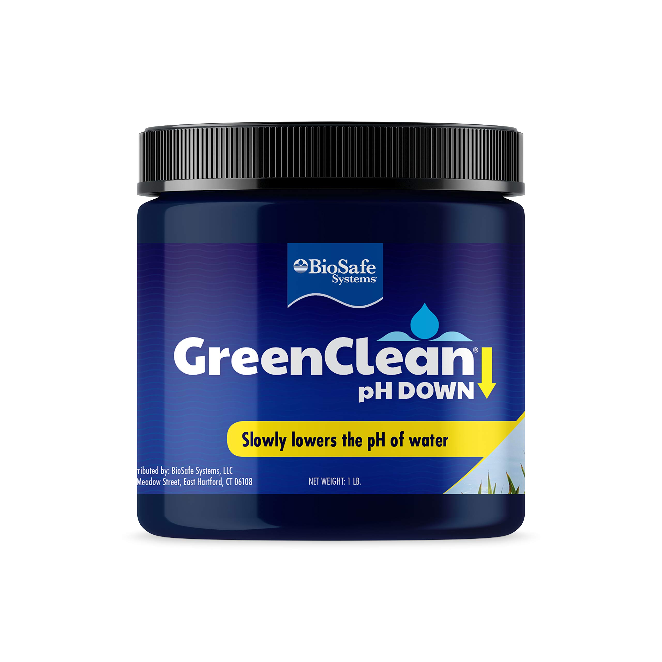 GreenClean pH DOWN Granular - 1 lb - pH Adjuster for Koi Ponds and Water Features. Safe for Fish, Plants, Pets and Wildlife.