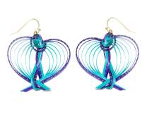 CCcollections Handmade Bamboo Earrings Brass Fashion 10 Design Colorful each design in 3 color