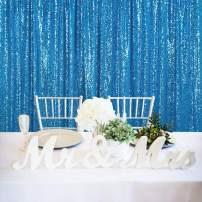 QueenDream Sequin Photo Backdrop 7ftx7ft Aqua Blue Sequin Backdrop Photography Shimmer Wedding Backdrop