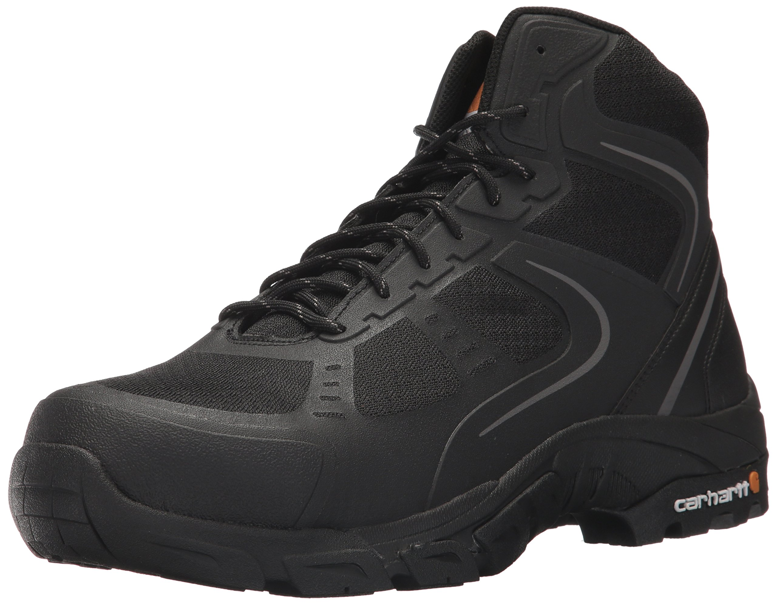Carhartt Men's Lightweight Hiker 6-Inch Black FastDry Technology- Steel Toe - CMH4251
