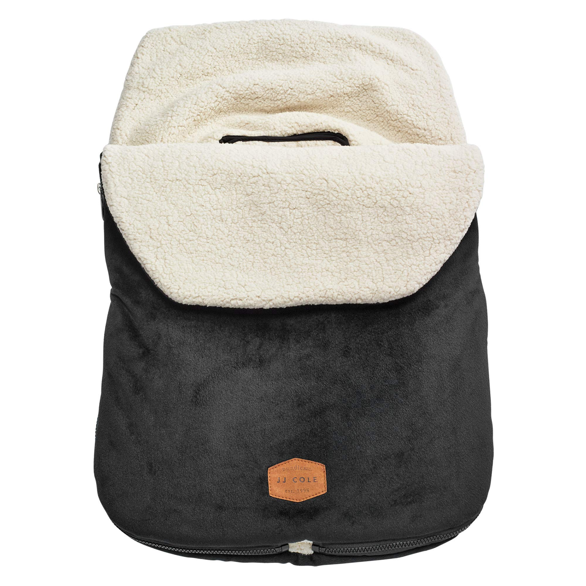 JJ Cole - Original Bundleme, Canopy Style Bunting Bag to Protect Baby from Cold and Winter Weather in Car Seats and Strollers, Blackout, Infant