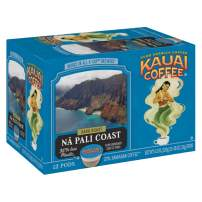 Kauai Coffee Single-Serve Pods, Na Pali Coast Dark Roast – 100% Arabica Coffee from Hawaii's Largest Coffee Grower, Compatible with Keurig K-Cup Brewers - 48 Count